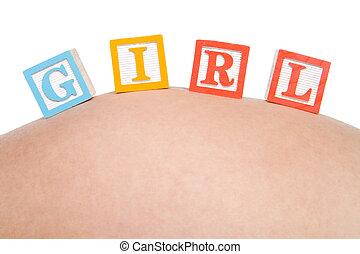 Girl baby blocks