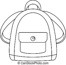 Girl backpack icon, outline style