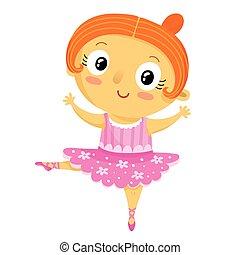 Girl ballerina, cartoon character