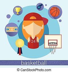 Girl Basketball Player Icon