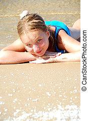 Girl beach