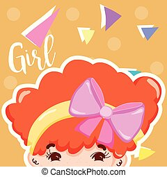 Girl beatiful face