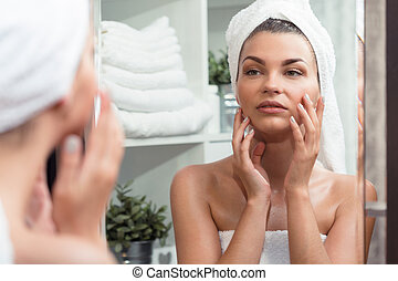 Girl before beauty treatment