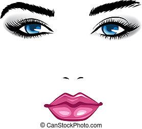 girl., bellezza, faccia