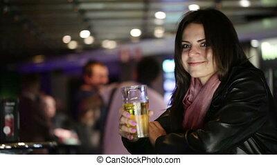 girl, bière