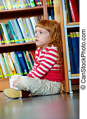 girl, bibliothèque