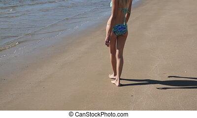 Girl Bikini Beach Heart