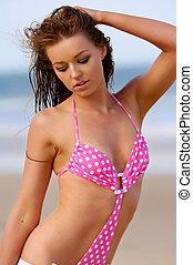 girl, bikini