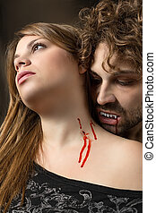 girl bitten by a vampire