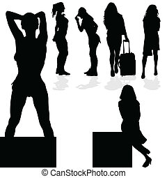 girl black silhouette