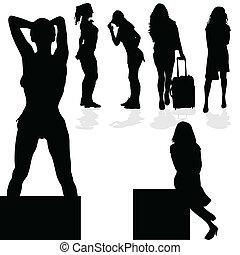 girl black silhouette