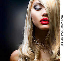 girl, blonds, mode
