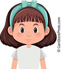 girl, brunette, caractère