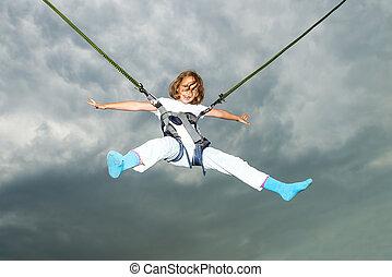 Girl Bungee Jump