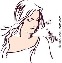 girl butterfly