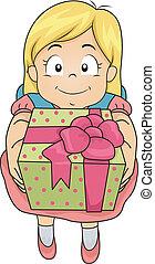 girl, cadeau