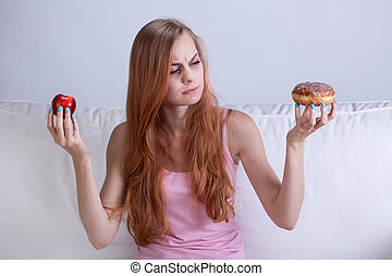 Girl can't eat donut