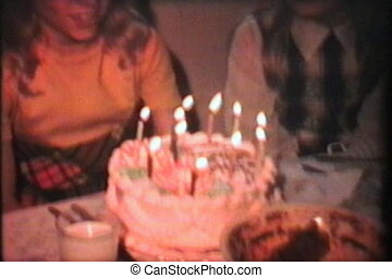 Girl Celebrates 11th Birthday -1976