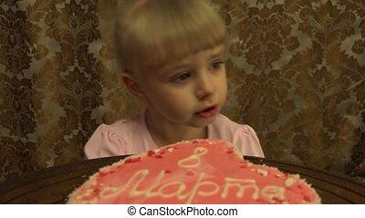 Girl Celebrates 8 March