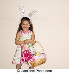 Girl celebrating Easter.