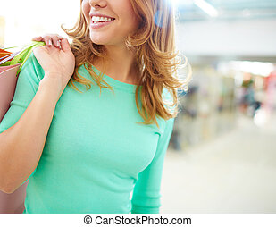 girl, centre commercial