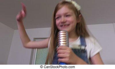 girl, chant, danse