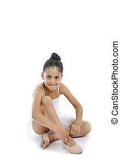 girl, chaussure ballet, jeune, attachement, ballerine, mignon, classique, elle, dentelles