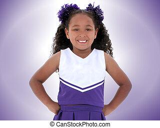 Girl Cheerleader - Beautiful Six Year Old Cheerleader In...