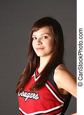 Young teen girl cheerleader