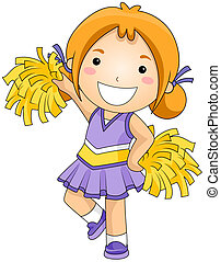 Cheerleader  - Girl Cheerleader with Clipping Path