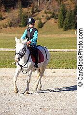 girl, cheval blanc