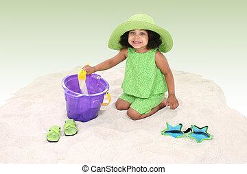 Girl Child Beach Fun