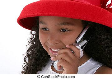 Girl Child Cellphone