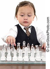 Girl Child Chess