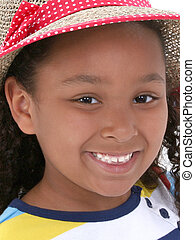 Girl Child Close Up