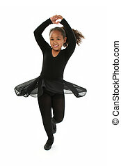 Girl Child Dancing - Beautiful African American girl...