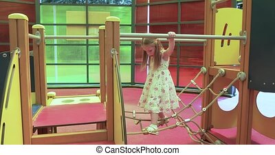 Girl child in the playground
