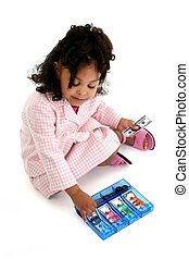 Girl Child Money Toy - Little business woman with pink and...