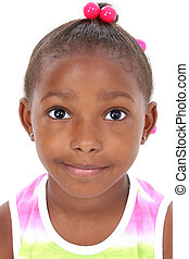 Girl Child Portrait - Close-up of Beautiful Little Girl in...