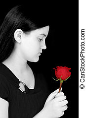 Girl Child Rose Red