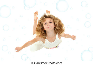Girl Child Swimming
