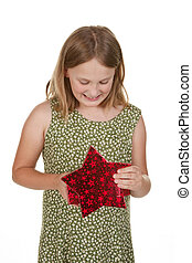girl child with present