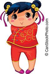 girl, chinois
