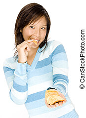 girl, chips