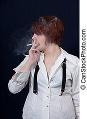 girl, cigaret