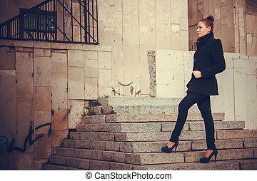 Girl city portrait