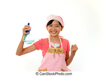 Girl cleaning