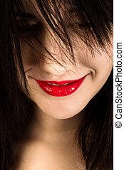 girl, closeup