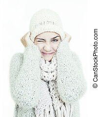 girl cold winter