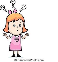Cartoon Confused Girl